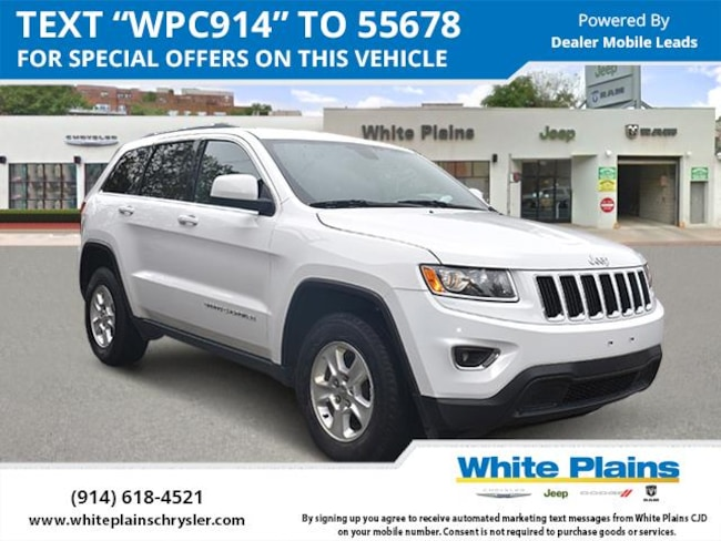 Used 2016 Jeep Grand Cherokee 4wd 4dr Laredo For Sale White