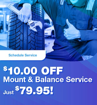 $10.00 Off Mount & Balance Service