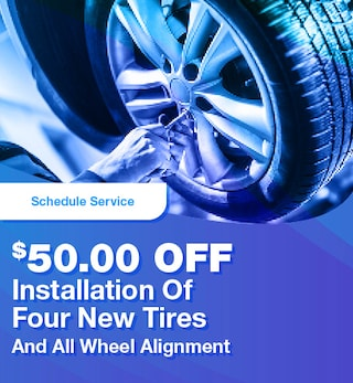 $50.00 Off Installation Of Four New Tires