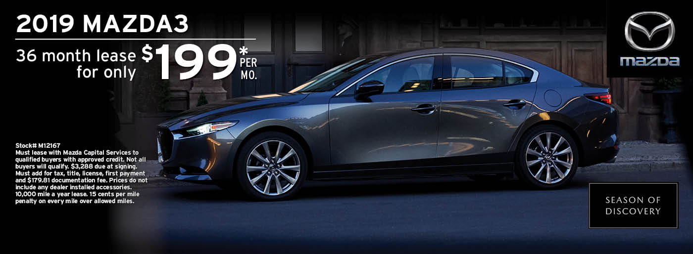 2019 Mazda 3 Lease Offer | Wilkins Mazda