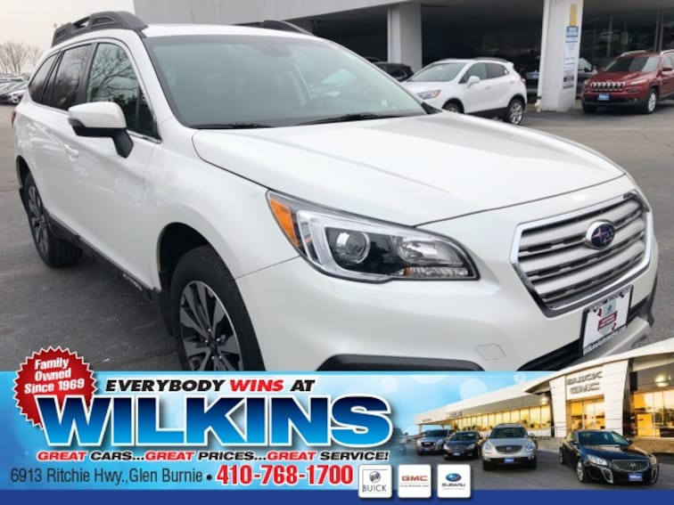 Used 2017 Subaru Outback 2.5i Limited with SUV near Baltimore