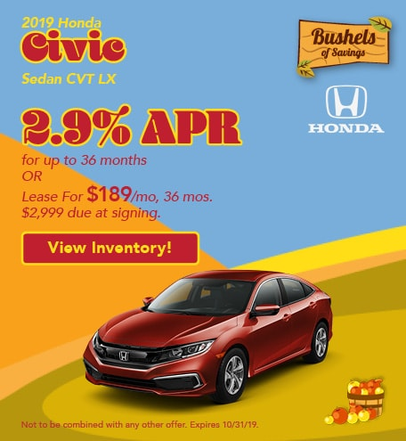 2019 Civic - September Offer