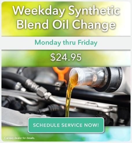 Weekday Oil Change April