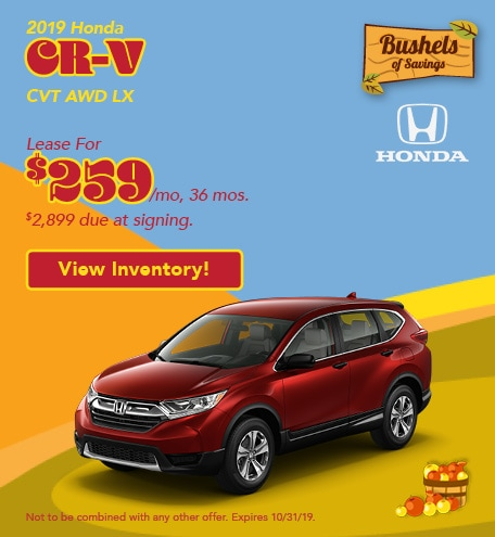 2019 CR-V - September Offer