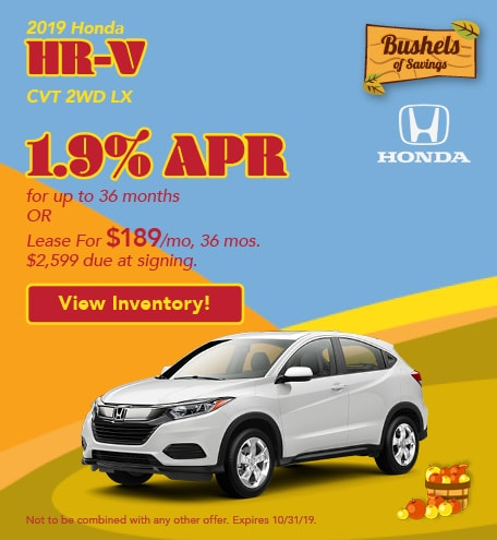2019 HR-V - September Offers