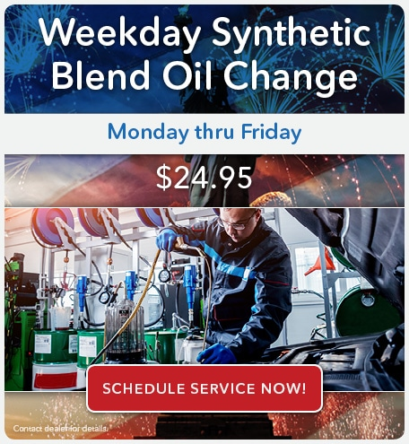 Weekday Synthetic Blend Oil Change