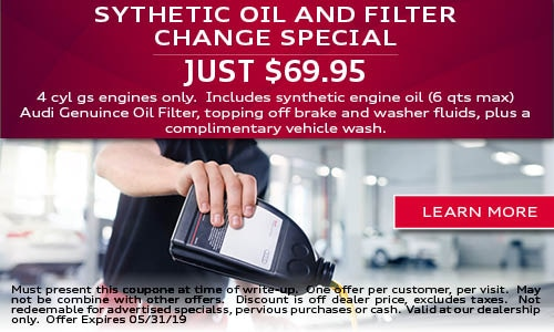 Synthetic Oil and Filter Change Special