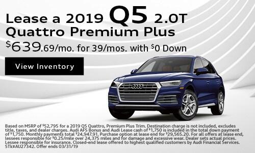2019 Q5 2.0T Quattro Premium Plus Lease