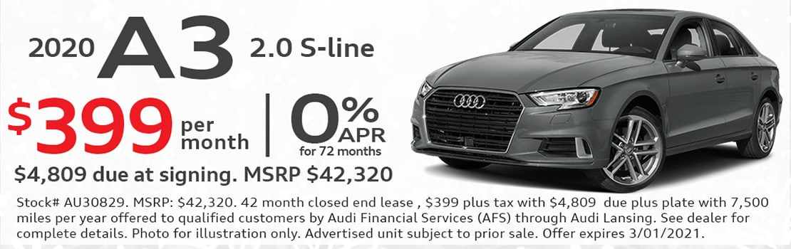 Audi A3 Lease Special
