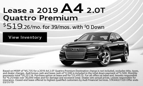 2019 A4 Quattro Premium Lease