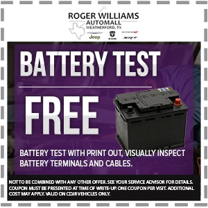 Free Mopar Battery Test Weatherford TX