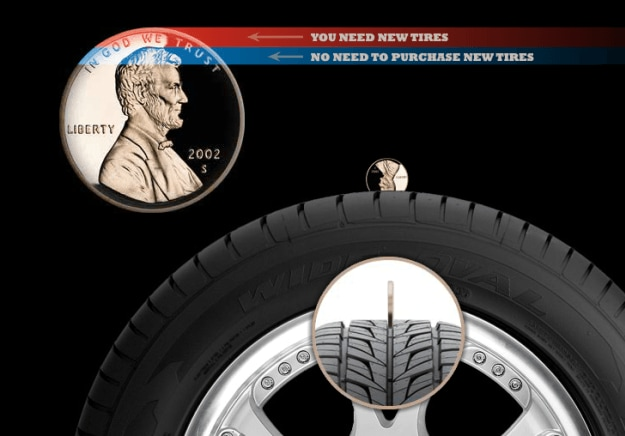 Tire Penny Test >> Williams Ford Lincoln | How To Tell If You Need New Tires?