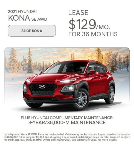 2021 Hyundai Kona SE AWD