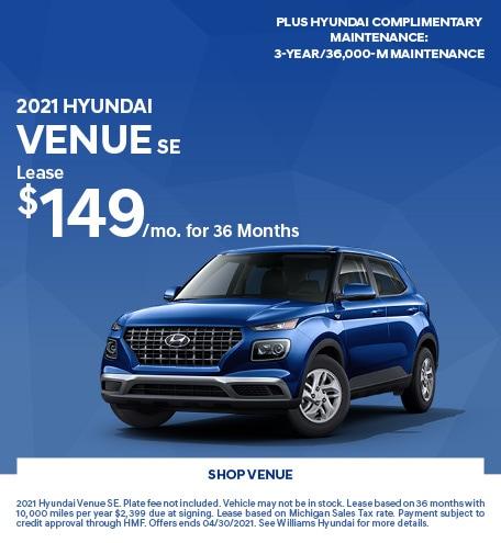 2021 Hyundai Venue SE- April Offer