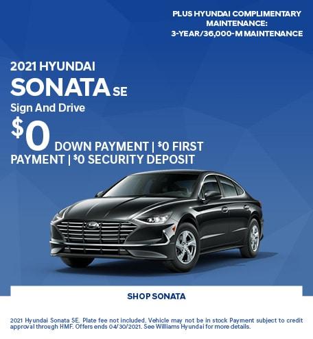 2021 Hyundai Sonata SE- April Offer