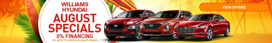 Williams Hyundai August Specials