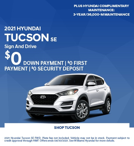 2021 Hyundai Tucson SE- April Offer