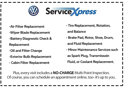 Save on Service Xpress Services including but not limited to :Air filter replacement, Oil Filter and Oil change and much more