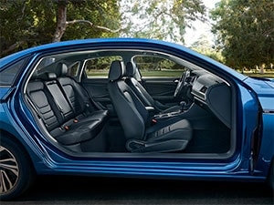 VW Ventilated leather seating surfaces