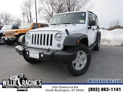New 2018 Jeep Wrangler JK Unlimited Sport SUV for sale in South Burlington, VT at Willie Racine's Jeep