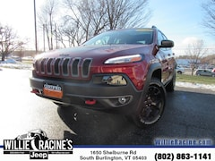 Certified Pre-Owned 2015 Jeep Cherokee Trailhawk 4x4 SUV for sale in South Burlington, VT
