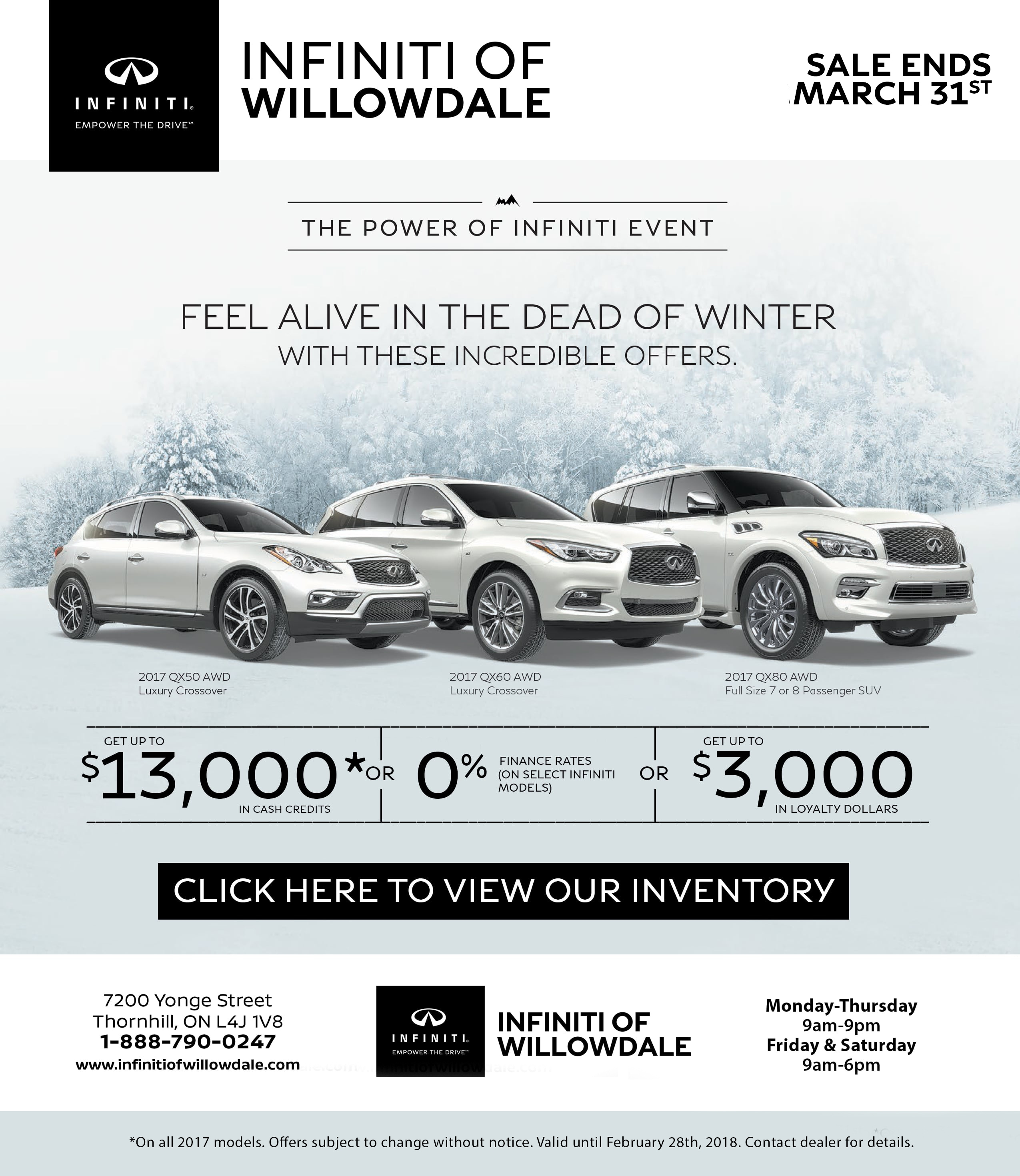 offer infinity offers june at specials berman new vehicle infiniti chicago
