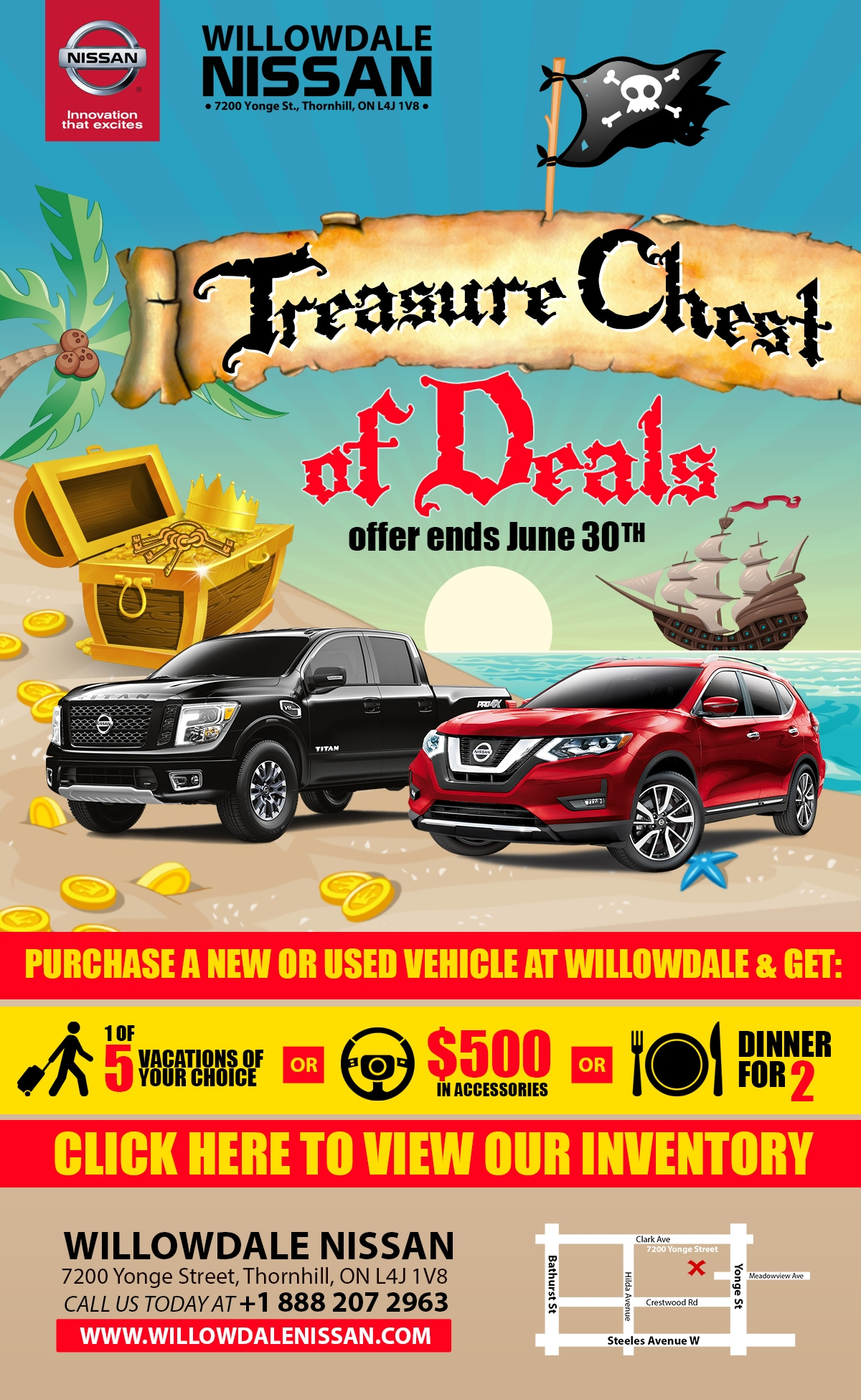 Treasure chest of deals sales event at willowdale nissan may treasure chest of deals sales event publicscrutiny Image collections