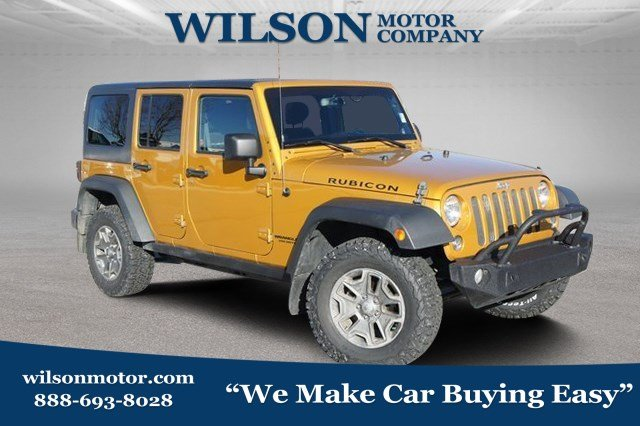 Featured Pre Owned 2014 Jeep Wrangler Unlimited Rubicon 4x4 SUV for sale near you in Logan, UT