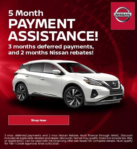 April | 5 Month Payment Assistance | Deferral
