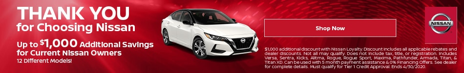 April | Thank You for Choosing Nissan | Discount