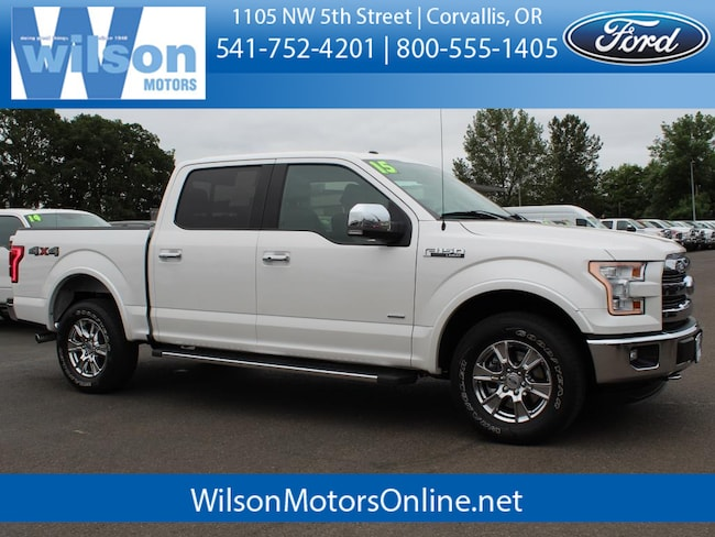 Used 2015 Ford F-150 Lariat Crew Cab Truck in Corvallis, OR
