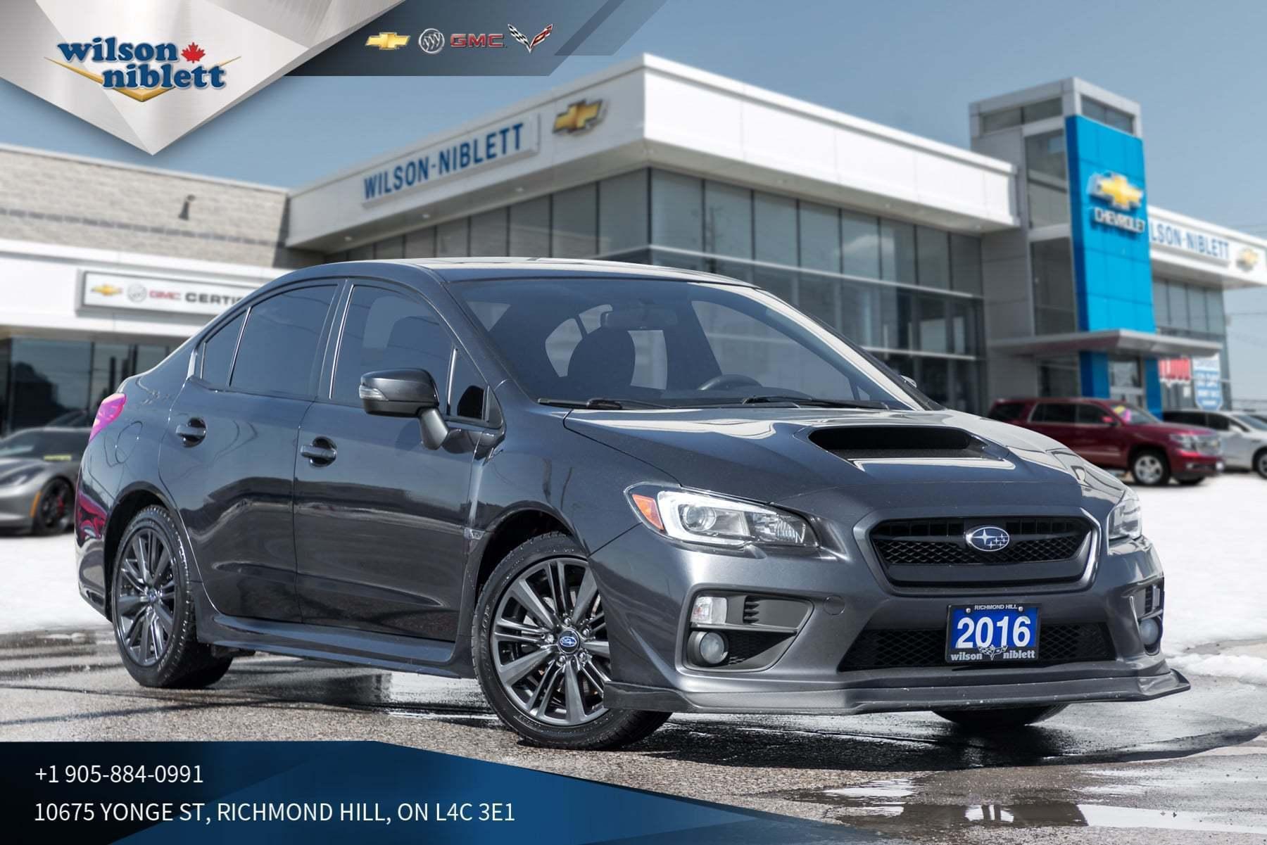 2016 Subaru WRX W/Sport PKG | SUNROOF | DUAL EXHAUST |  Sedan