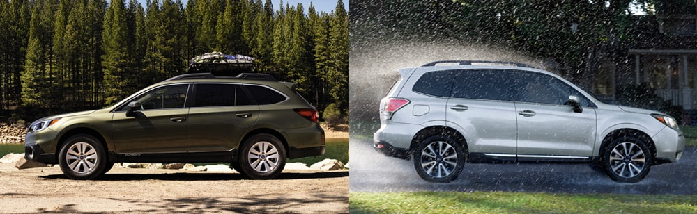 2017 Subaru Outback Vs Forester