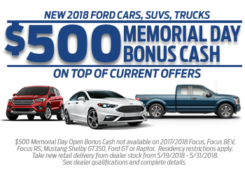 Memorial Day Car Sales 2017 >> Memorial Day Sales Event Winner Ford Cherry Hill