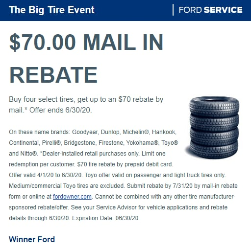 The Big Tire Event $70