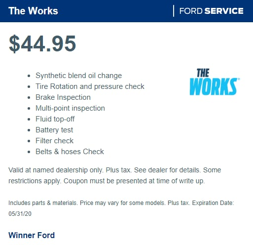 The Works | Ford Service