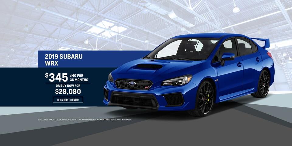 2019 Subaru WRX Lease Special