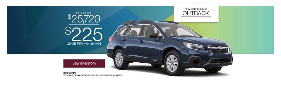 2019 Subaru Outback Special