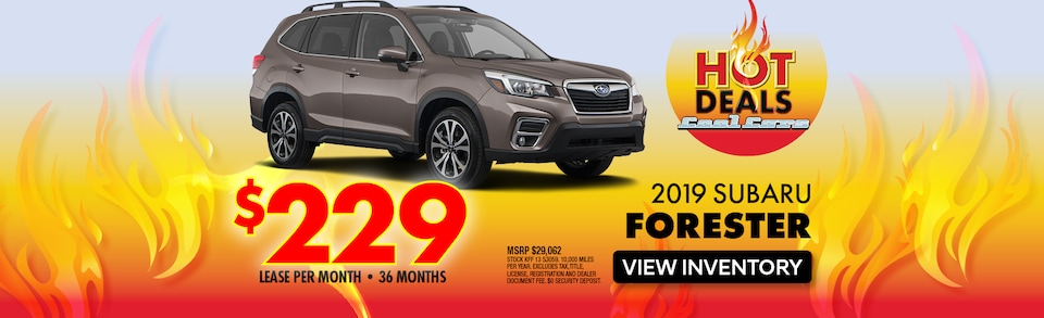2019 Subaru Forester Lease Special
