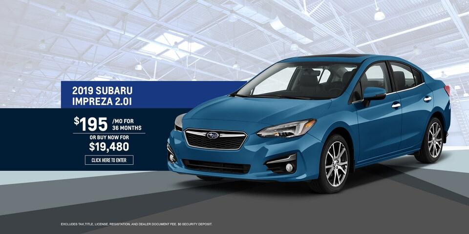 2019 Subaru Impreza 2.0i Lease Special