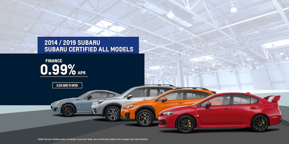 2004-2019 Subaru Certified Vehicles