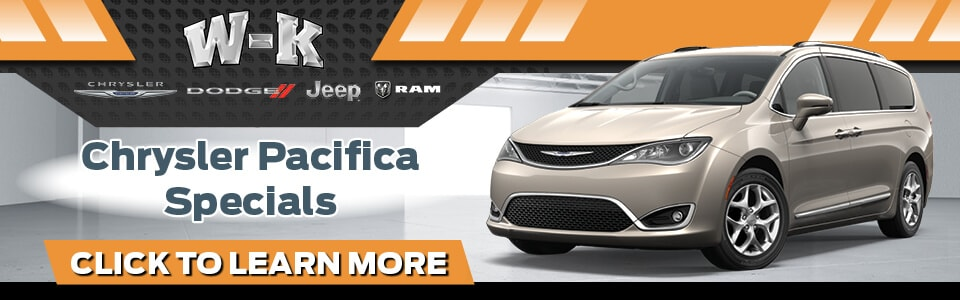 2019 Chrysler Pacifica Specials Banner