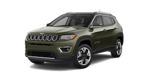A green 2018 Jeep Compass Limited