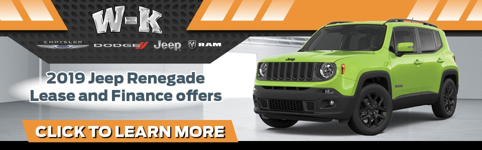 2019 Jeep Renegade lease and finance offers