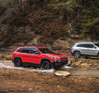Two Jeep Cherokees off roading