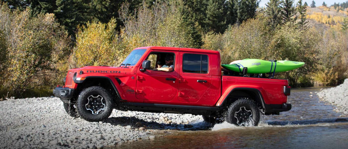 2020 Jeep Gladiator coming out of stream