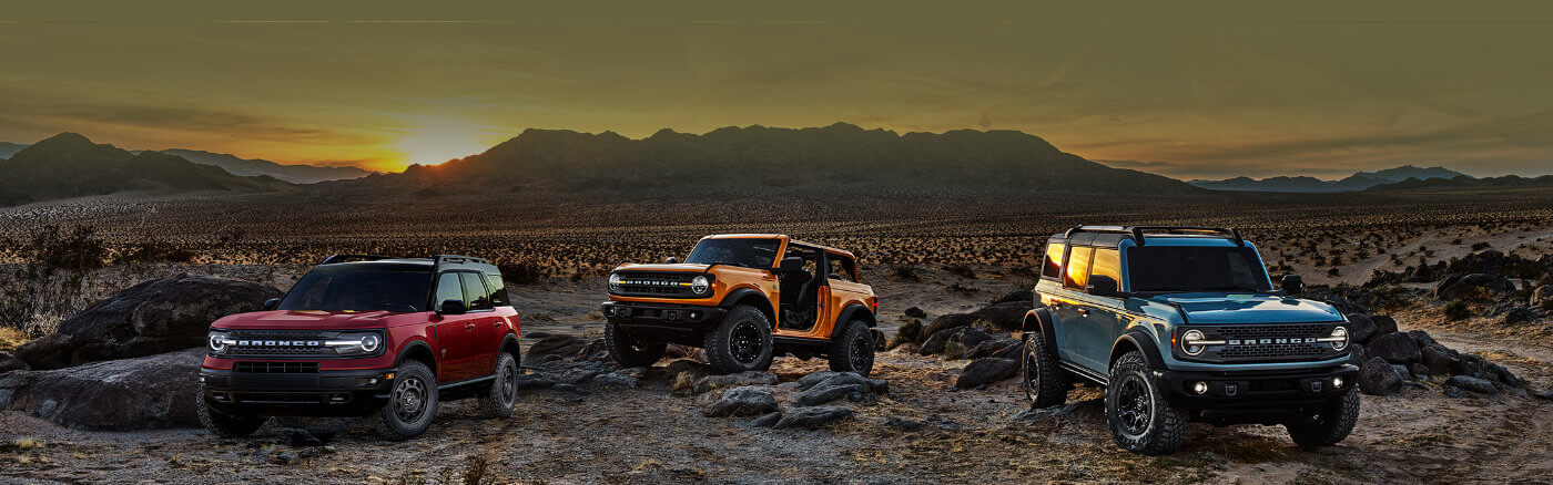 2021 Ford Bronco 2-Door, 4-Door & Sport models