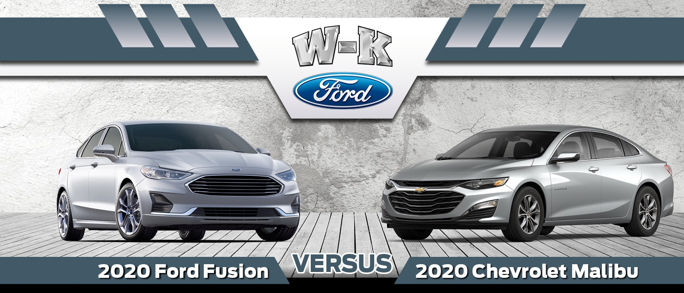 2020 Ford Fusion vs. 2020 Chevy Malibu