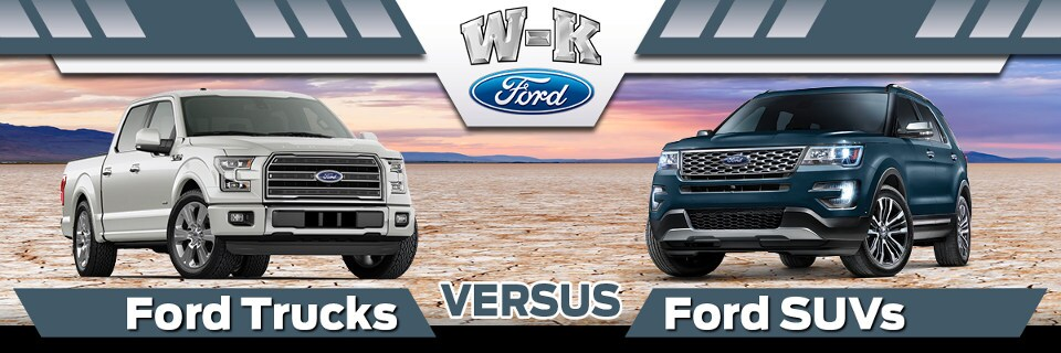 Ford Trucks vs. SUVs banner image