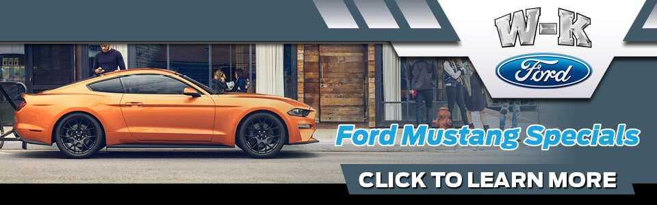 2019 Ford Mustang Specials Banner